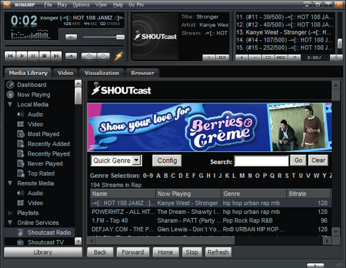 WinAmp player multimediale