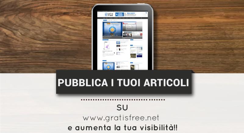 Pubblicazione Articoli e Guest Posting - GratisFree.net