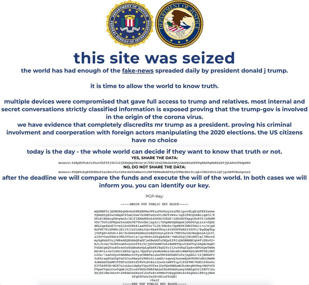 Il Sito Della Campagna Presidenziale Di Trump &Grave; Stato Hackerato