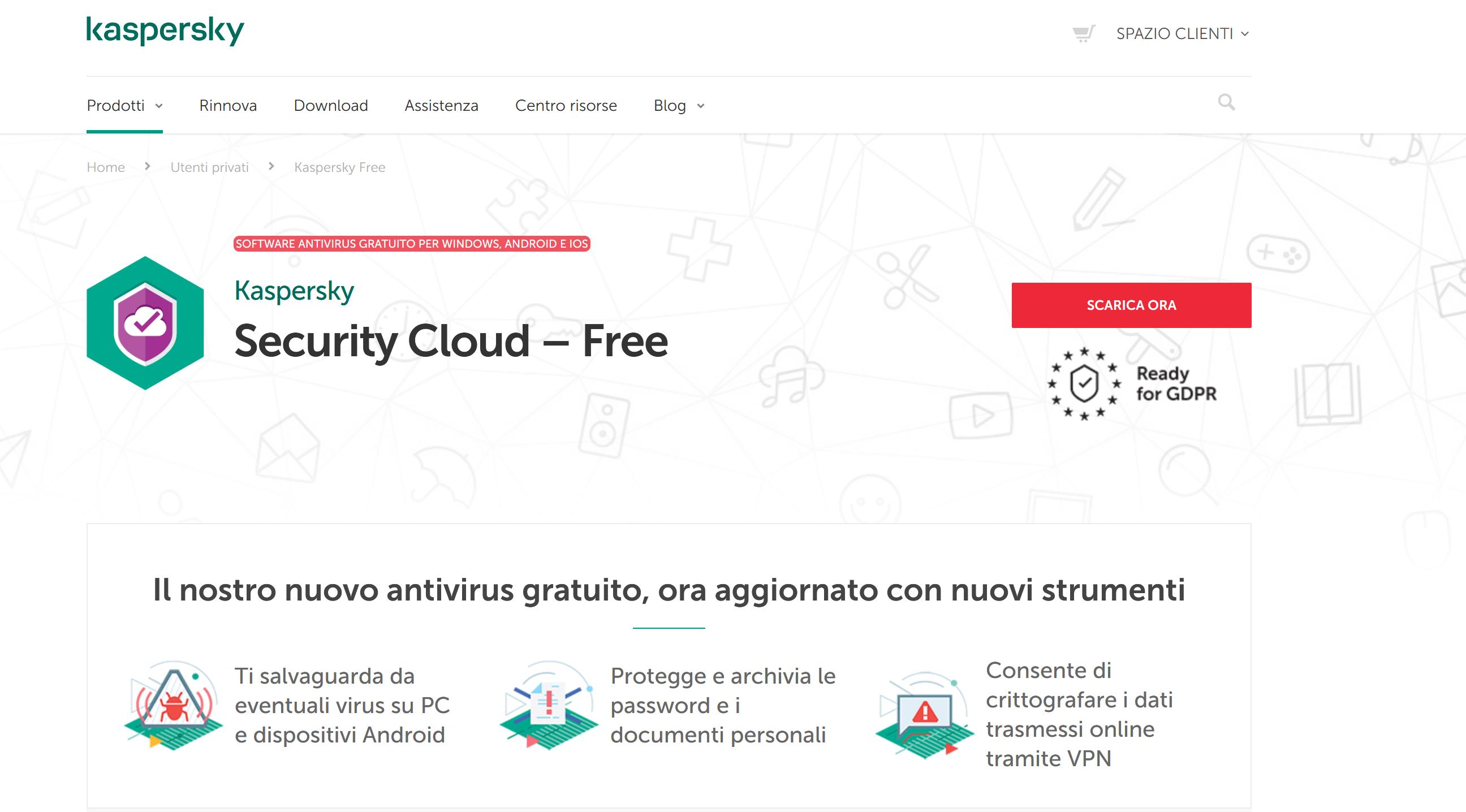 Il Miglior Antivirus Gratis Del 2020: 6 Software Per La Sicurezza Online - Kaspersky security cloud free