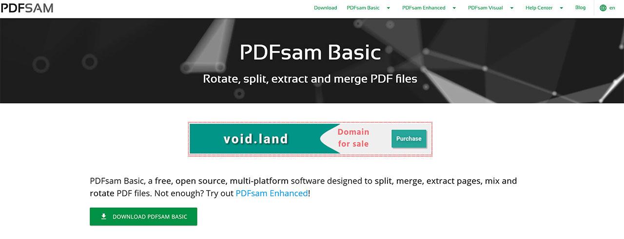 Modificare PDF Gratis: Migliori Editor PDF Del 2020: PDFSam Basic