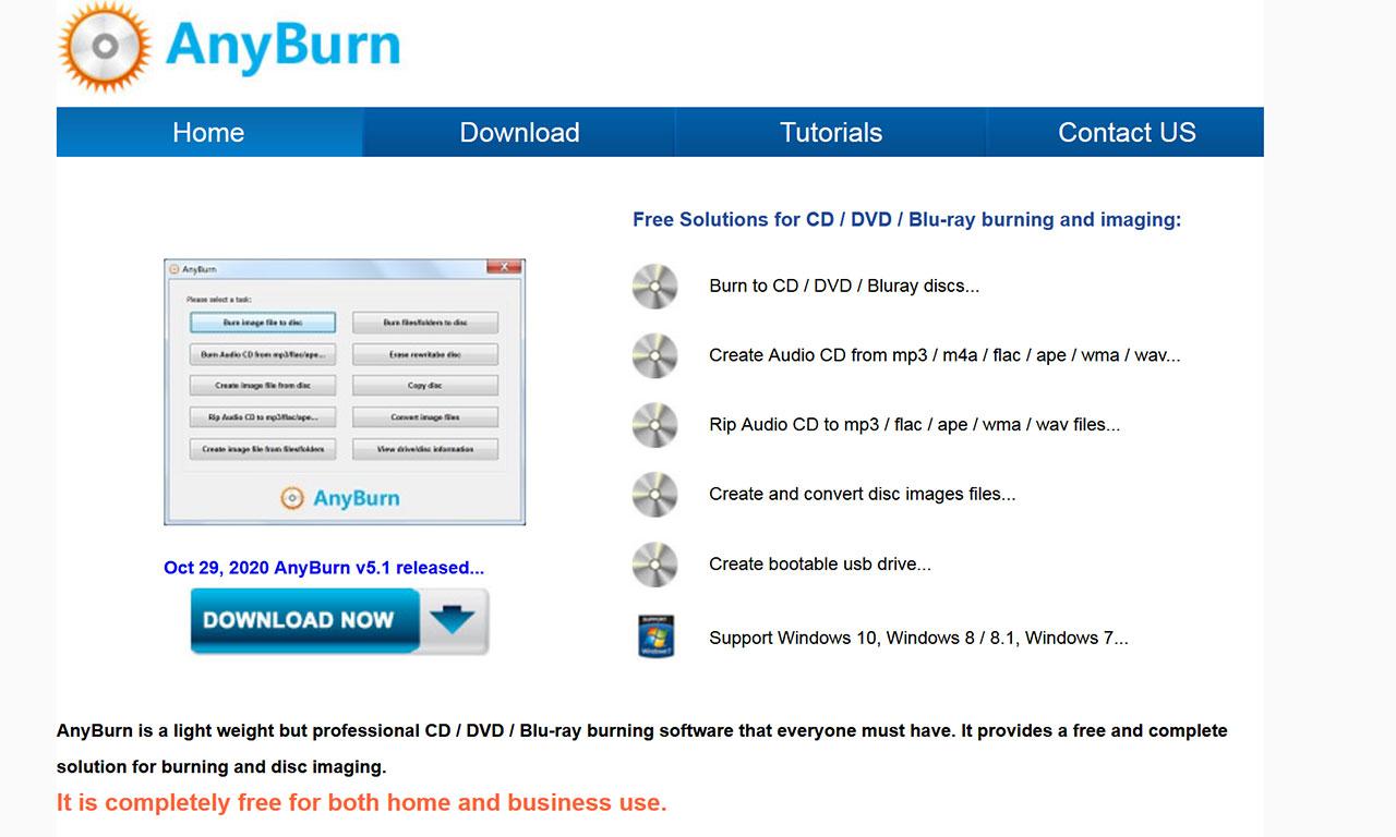 I Migliori Software Gratuiti Per Masterizzare DVD e CD Nel 2021: AnyBurn