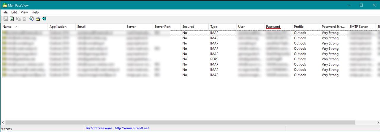 Come Recuperare La Password Delle Email Con Mail PassView